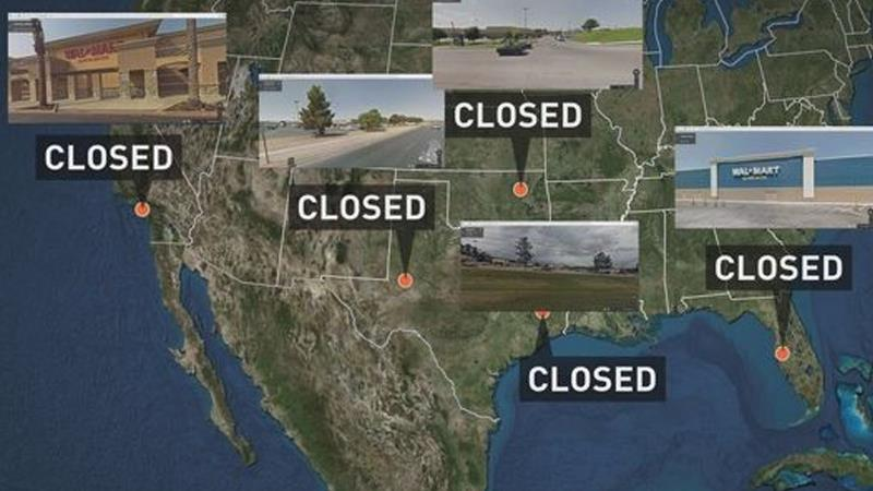 Walmart Stores Closed