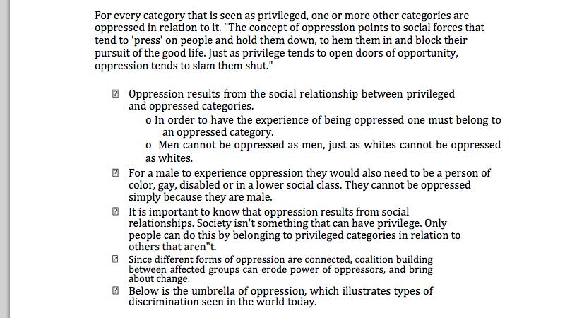 essays on oppression and privilege Essays allan's blog: the trouble around privilege and oppression is so pervasive, so long-standing 9 responses to who me.