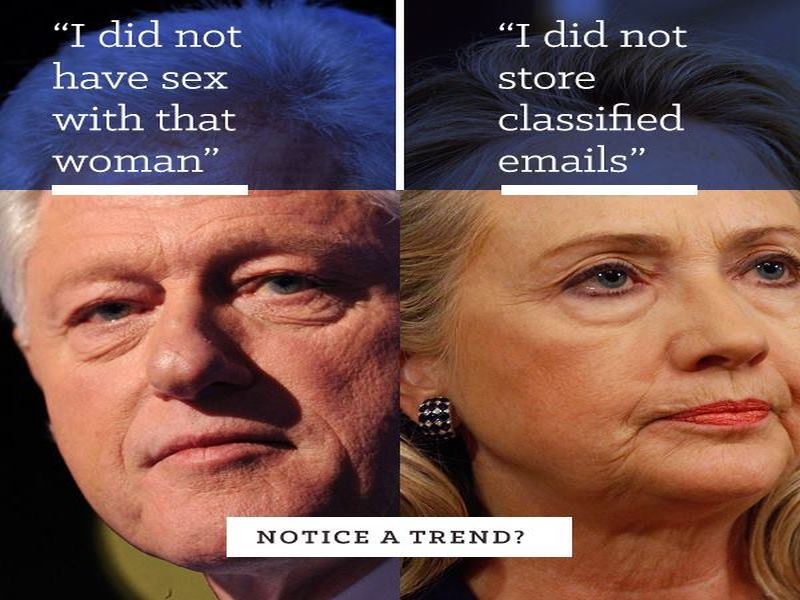 clinton bill and hillary meme shows why they're the perfect match