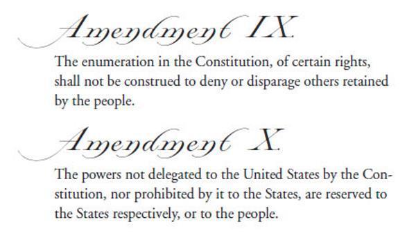 history government tenth amendment
