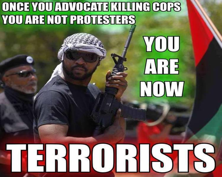 Once You Call For Killing Cops Youre Not A Protester Anymore