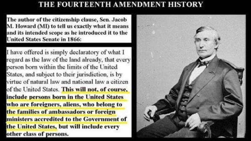 Image result for Author of 14th Amendment Explains EXACTLY Who It Was Meant For
