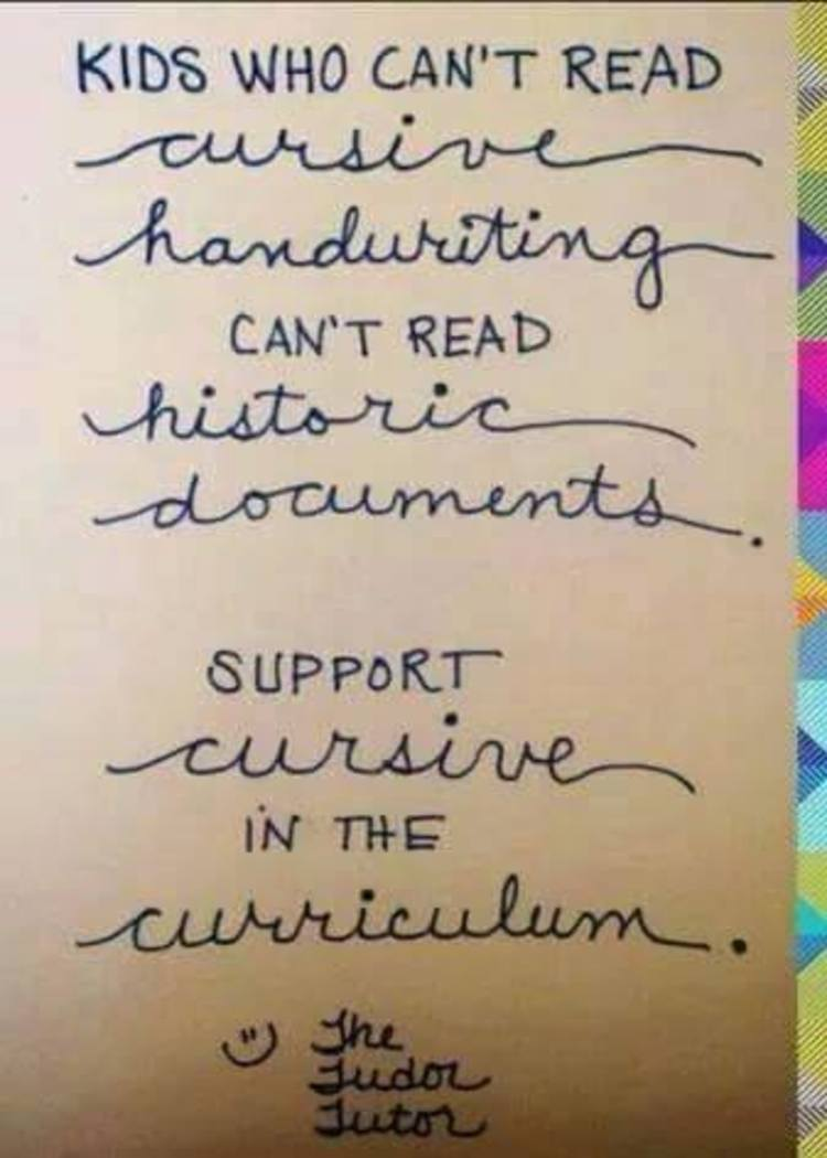 pictures Reasons To Learn Cursive