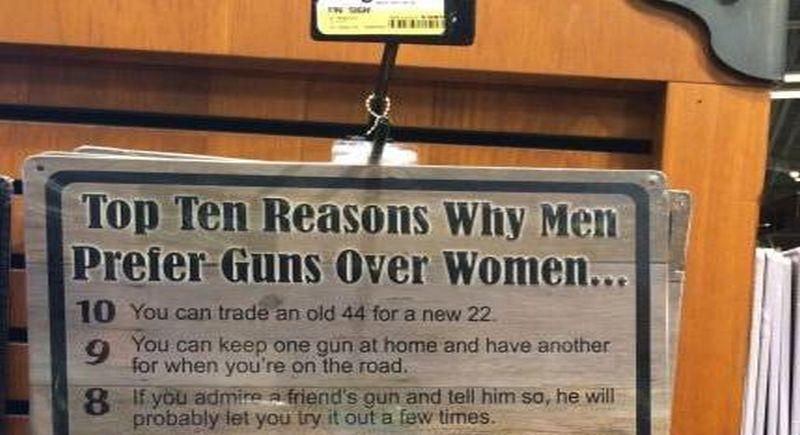 top 10 reasons why men prefer guns over women  meme