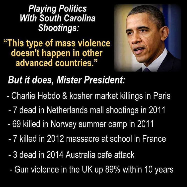 Obama Claims No Mass Shootings In Other Countries; Here's