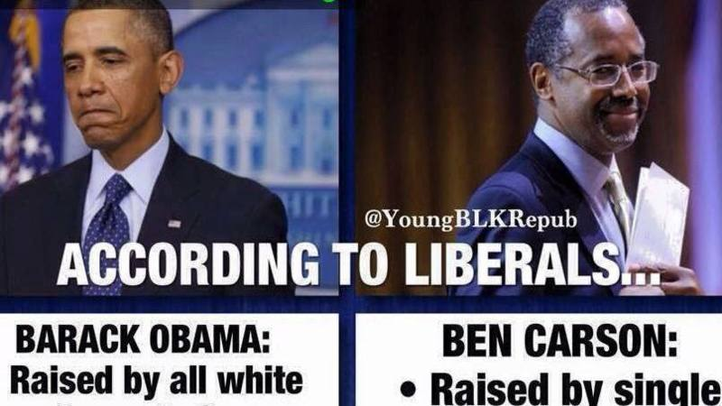 brutal meme reveals difference between obama and ben carson
