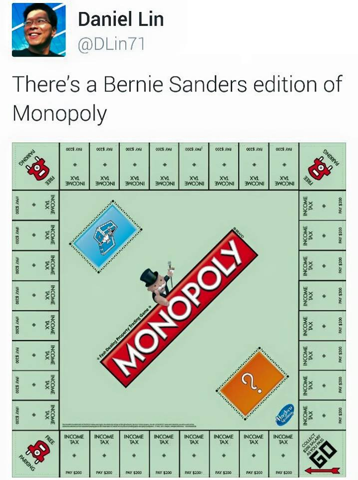 Monopoly Re Invented For Bernie Sanders Fans