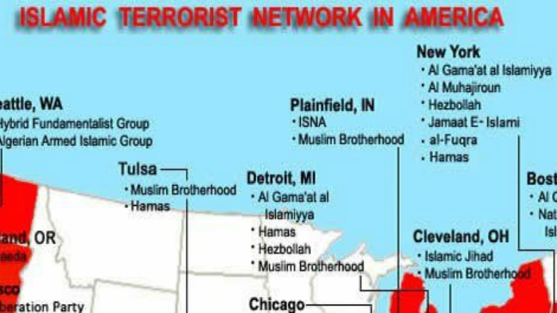 22 Islamic Jihad Training Camps in America Map Shows Where