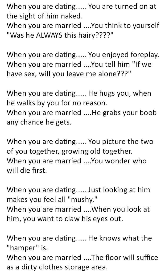 difference dating and marriage