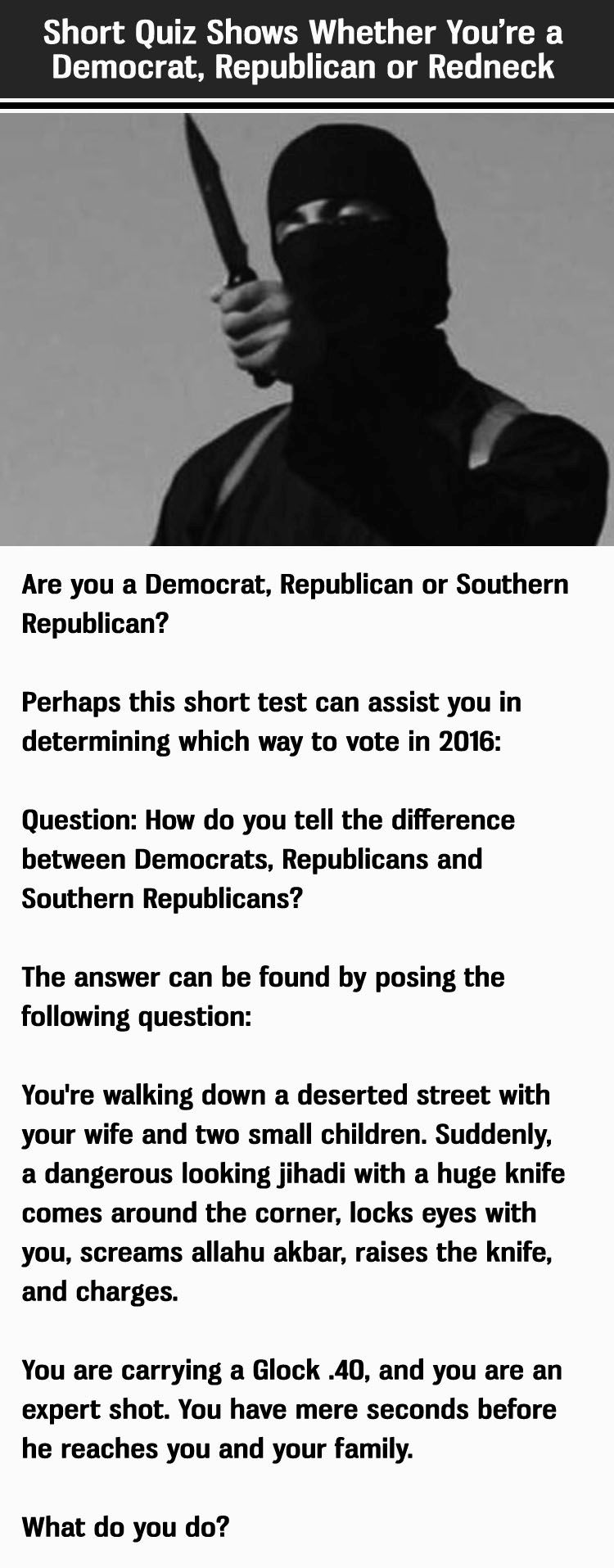 Political Quiz Are You A Democrat Republican Or Redneck