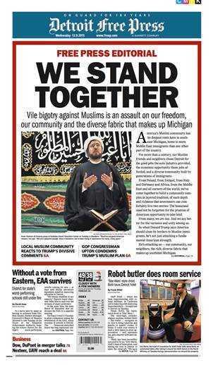 detroit free press full cover