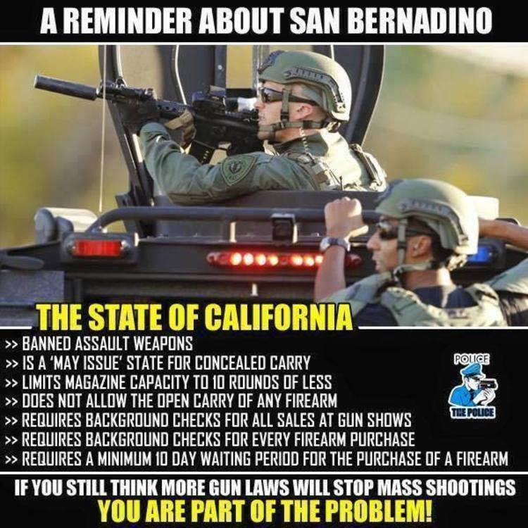 17 Best Images About Law Enforcement Gun Control On: San Bernardino Shooting Meme Reveals Why Gun Laws DON'T Work