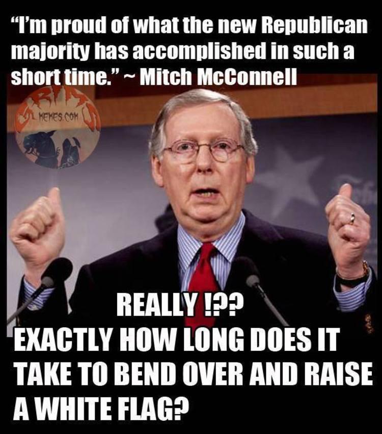 Brutal Meme Destroys Mitch Mcconnell For Surrendering To Obama