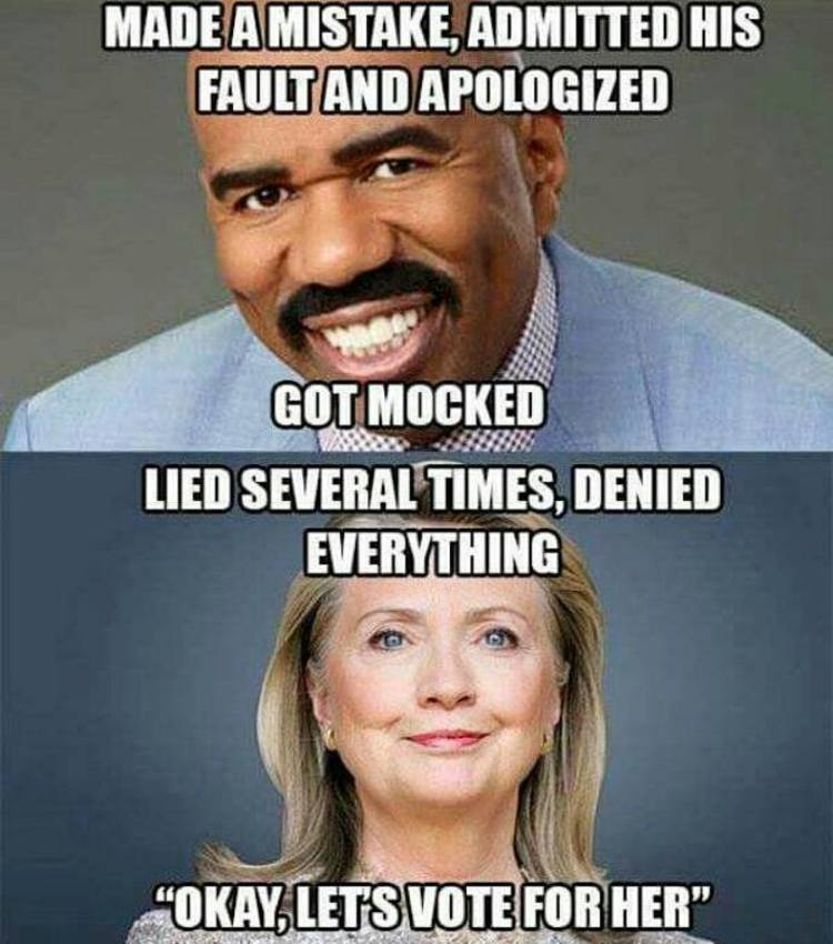 imageedit_4285_7018109578 the difference between steve harvey and hillary [meme]