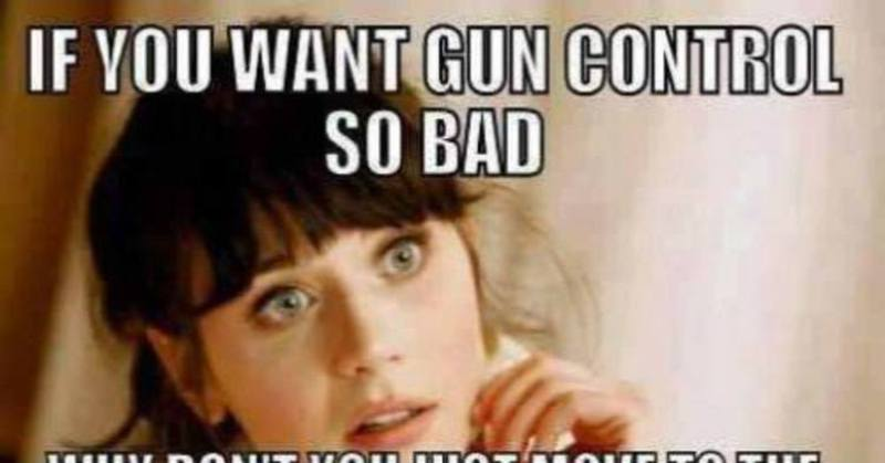 Brutal Meme Tells Anti Gun Liberals Where They Can Go