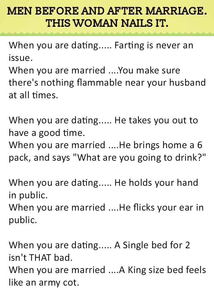 difference between dating and marriage