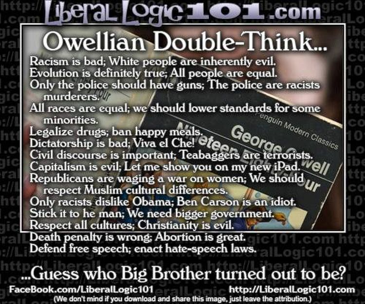 """essay on doublethink Free essay: what is doublethink orwell describes doublethink as """"the power of  holding two contradictory beliefs in one's mind."""