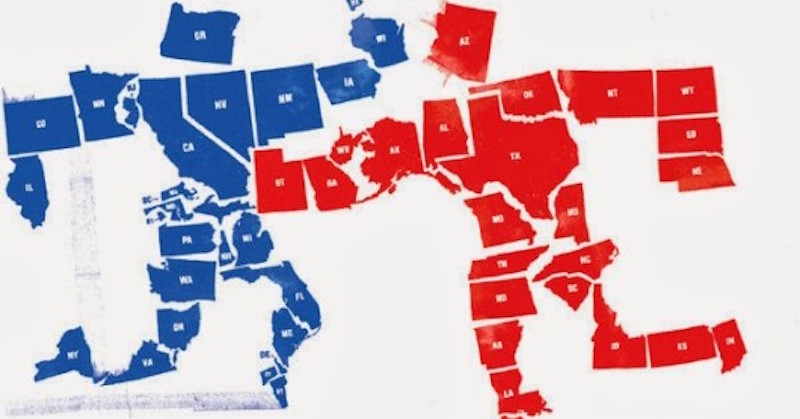 Top Wyoming Is MOST GOP State Vermont MOST Liberal - Democrat republican map
