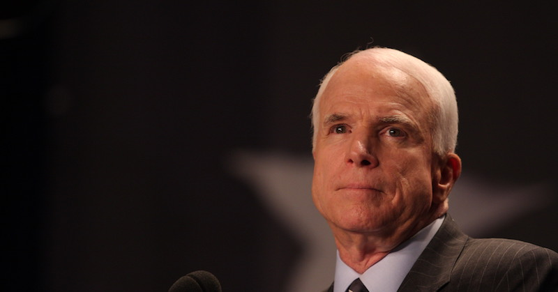 Sen. John McCain, R-Ariz., speaks to LULAC on Tuesday, July 8, 2008 in Washington. (WDCPIX.COM/Lauren Victoria Burke)