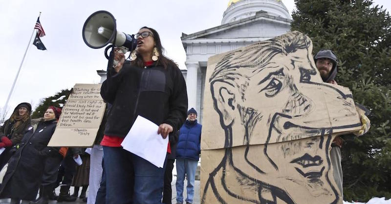 vermont health care protest