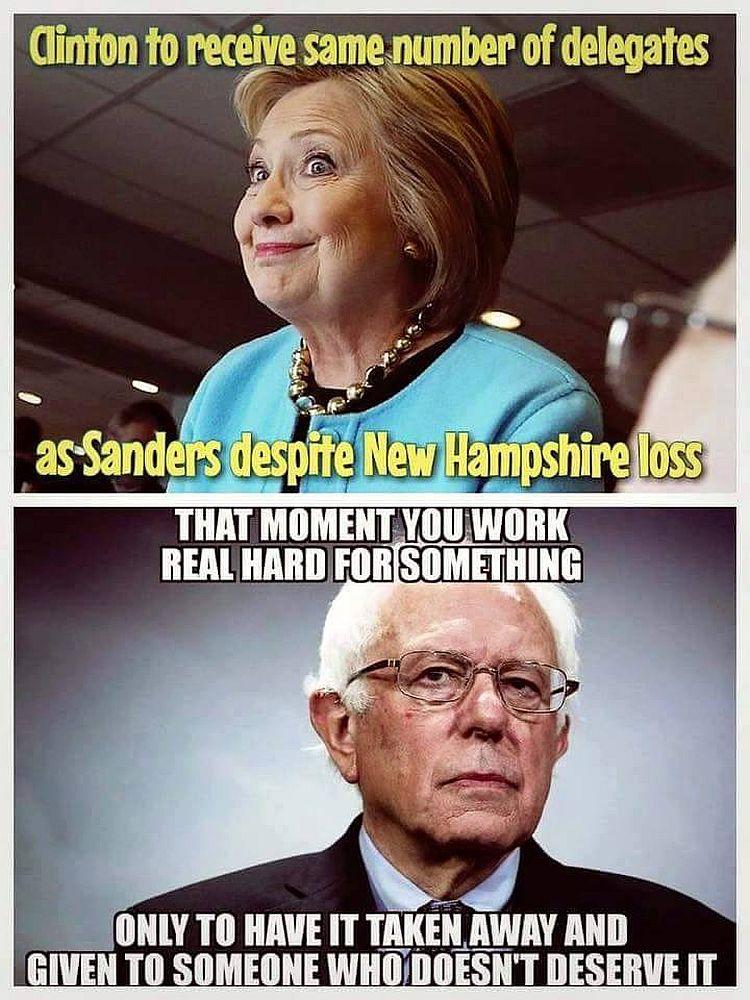 Hillary and Bernie 750 meme shows how bernie's socialism has come back to bite him