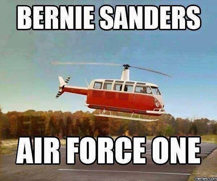 HILARIOUS Meme Shows Bernie Sanders' Air Force One