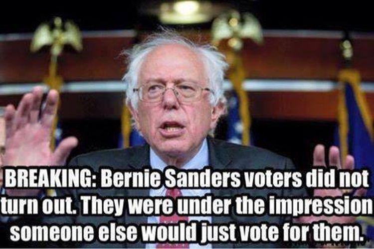 Bernie Voters 750 meme explains why bernie keeps losing to hillary