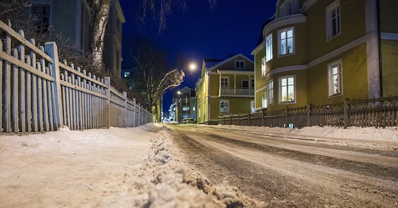 deserted streets of ostersund