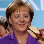 merkel with sausage