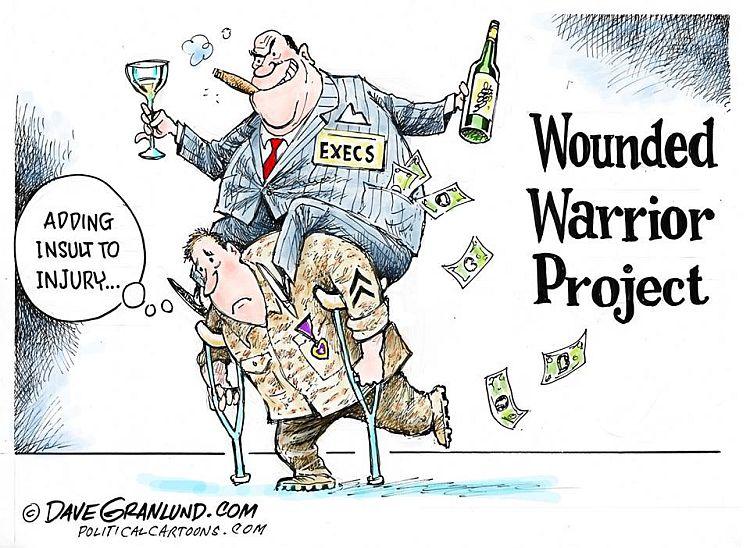 US Iraq war wounded veterans, cartoon