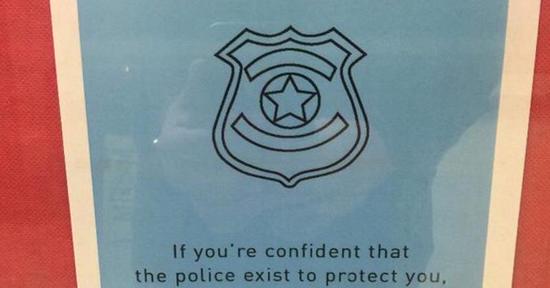 Anti-Cop Anti-White Signs