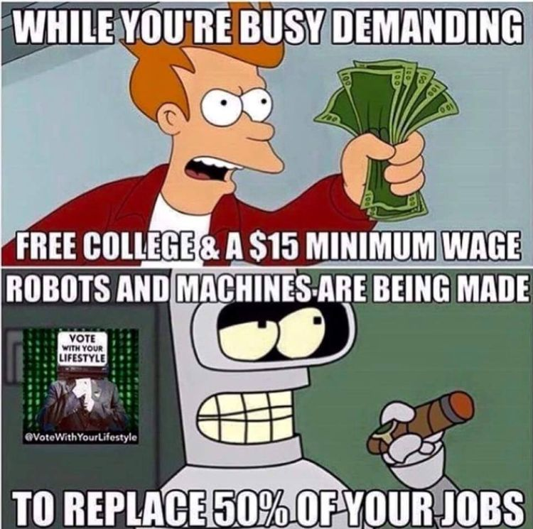 While youre busy demanding free college macines take over