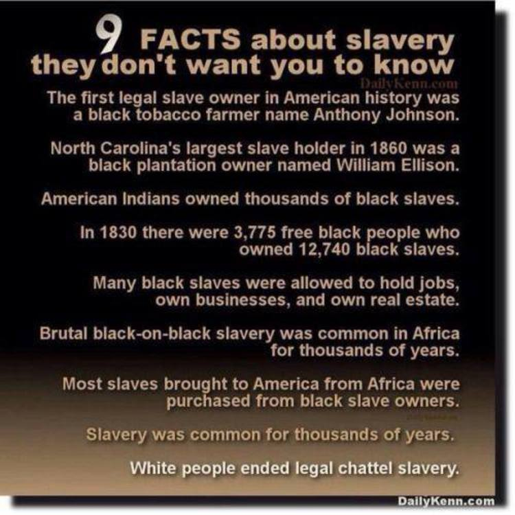 9 Facts About Slavery The Left Doesn't Want You To Know