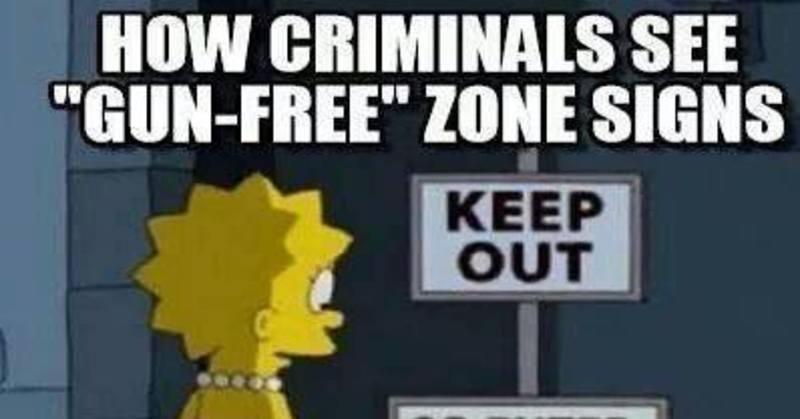 meme reveals how criminals see gun free zones