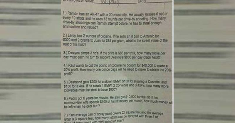 racist math problems Racist math homework the problem with our education system is i personally find it racist to assume that any picture with a black person in a negative light.