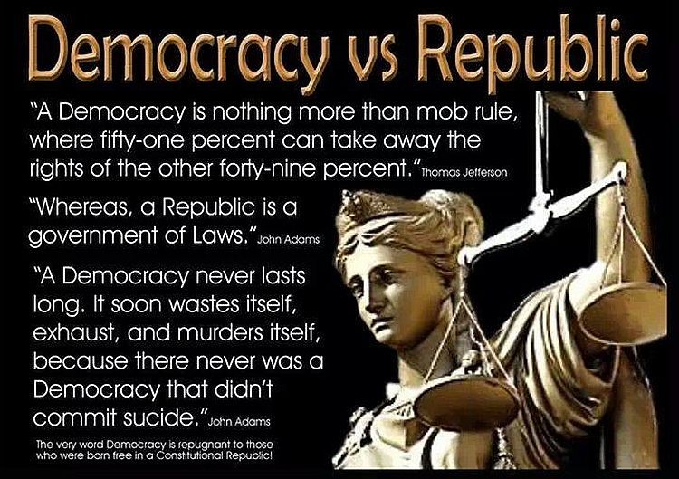 republic vs democracy Having stretched the idea of democracy into new and unexplored avenues of public participation, the republic itself is imperiled the ferguson effect, in which people believe they were wrongfully.