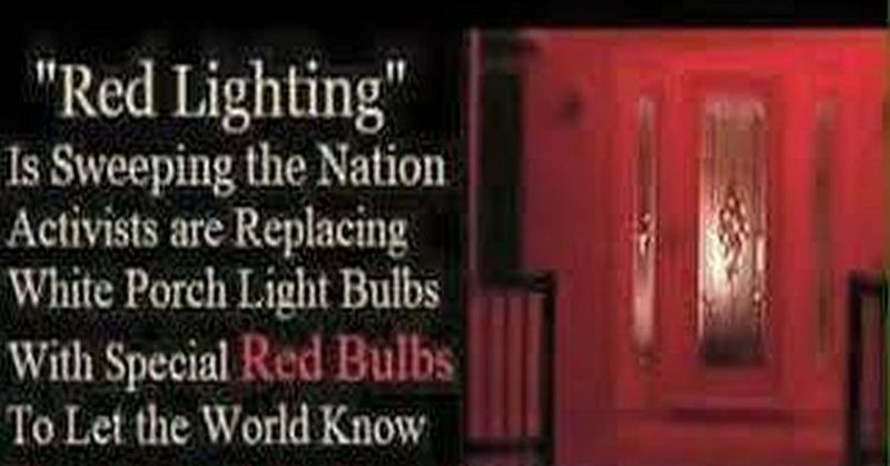 Good If You See A House With A Red Porch Light On.. Photo
