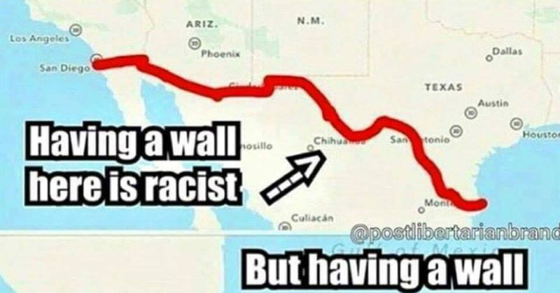 Boom Liberal Arguments On The Border Destroyed With One Map