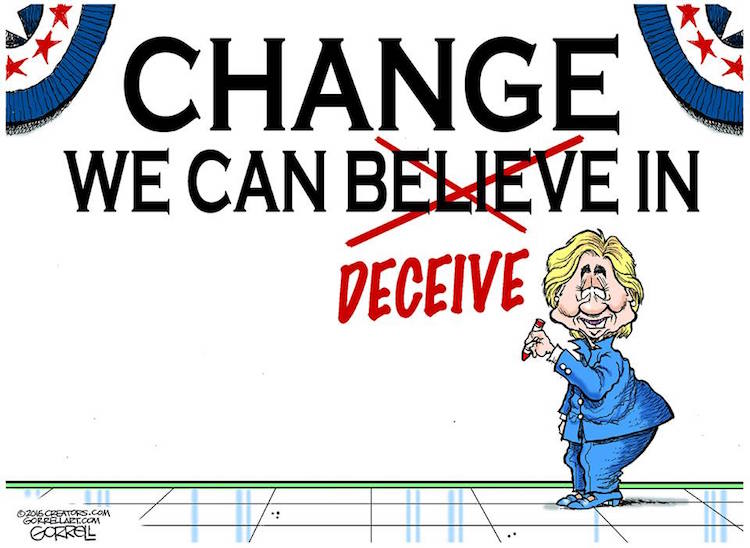 hillary s new campaign slogan if she is being honest