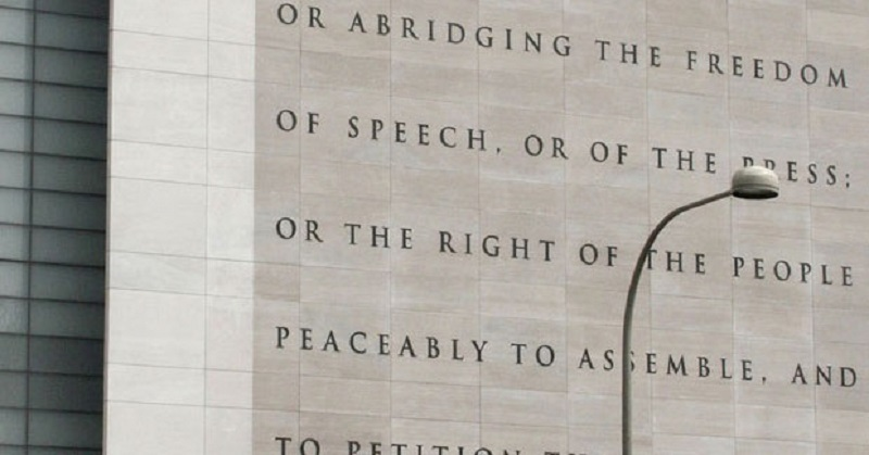 only % know the purpose of the st amendment first amendment wall