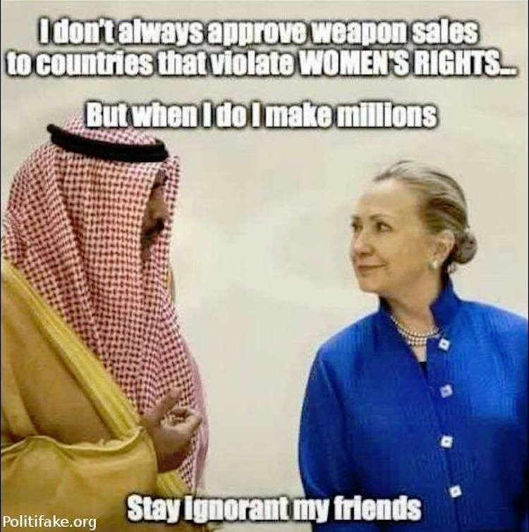 HillaryWomensRights meme exposes truth about hillary's support for \