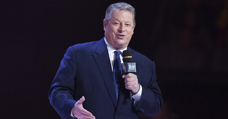 Former U.S. Vice-President Al Gore speaks at Free the Children's We Day event in Toronto on Friday, Sept. 28, 2012. (AP Photo/The Canadian Press, Michelle Siu)