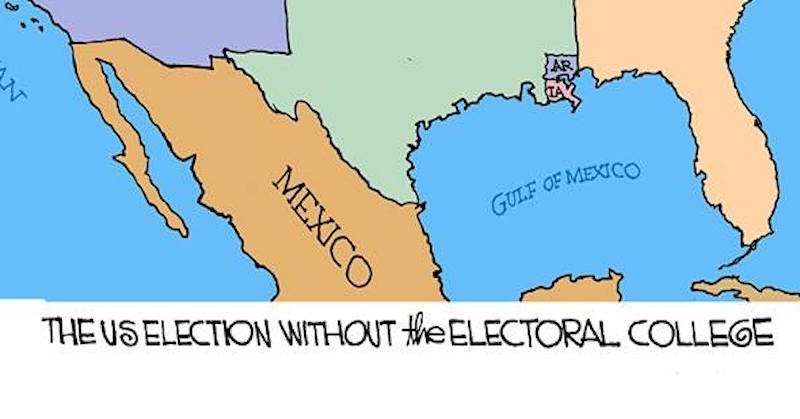 What Elections Would Look Like Without Electoral College - Electoral-college-map-us