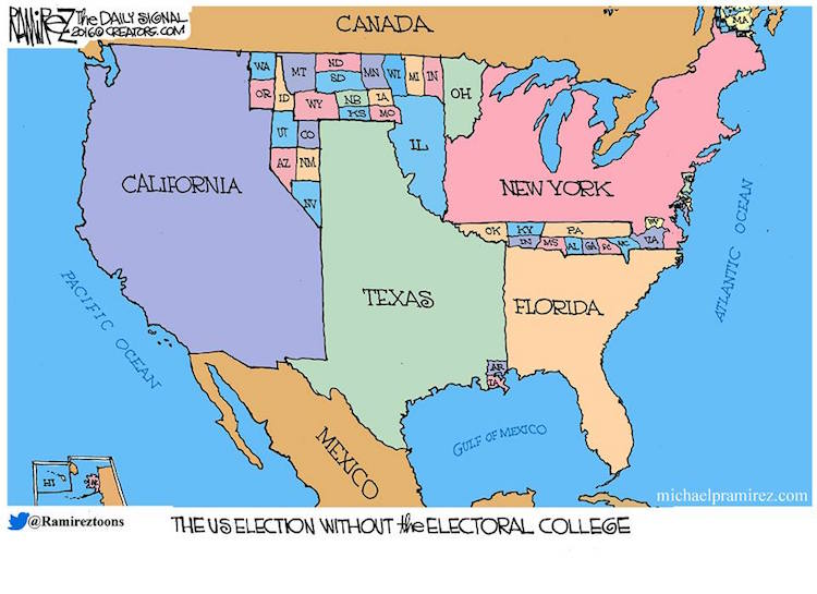 Map Of Us Electoral College.What Elections Would Look Like Without Electoral College