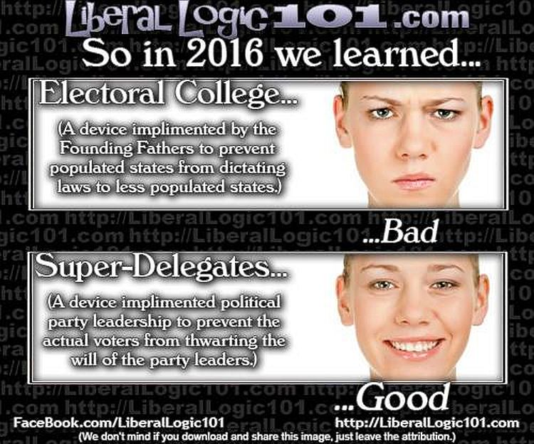 Liberal Hypocrisy On The Electoral College Brutally Exposed