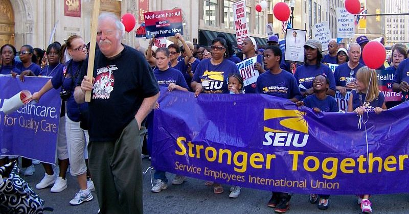 Apologise, seiu marches with communists commit error