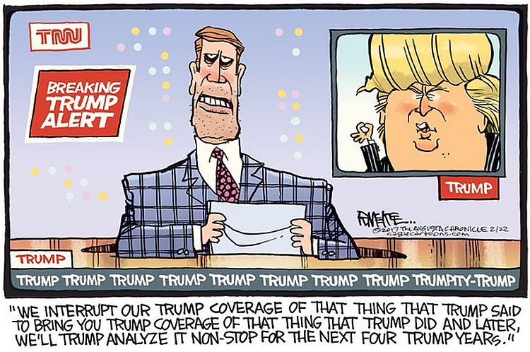 Media Obsession With Trump Summed Up By One Hilarious Cartoon