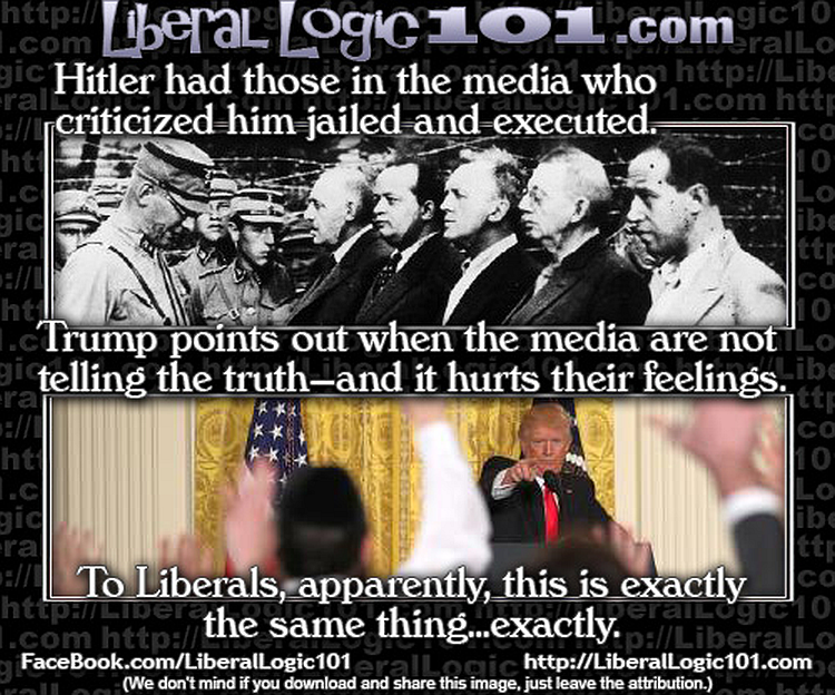 PATHETIC: How Liberals View Treatment of the Press, Trump vs Hitler