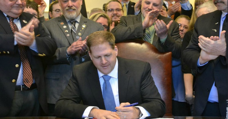 Governor Sununu signing Constitutional Carry