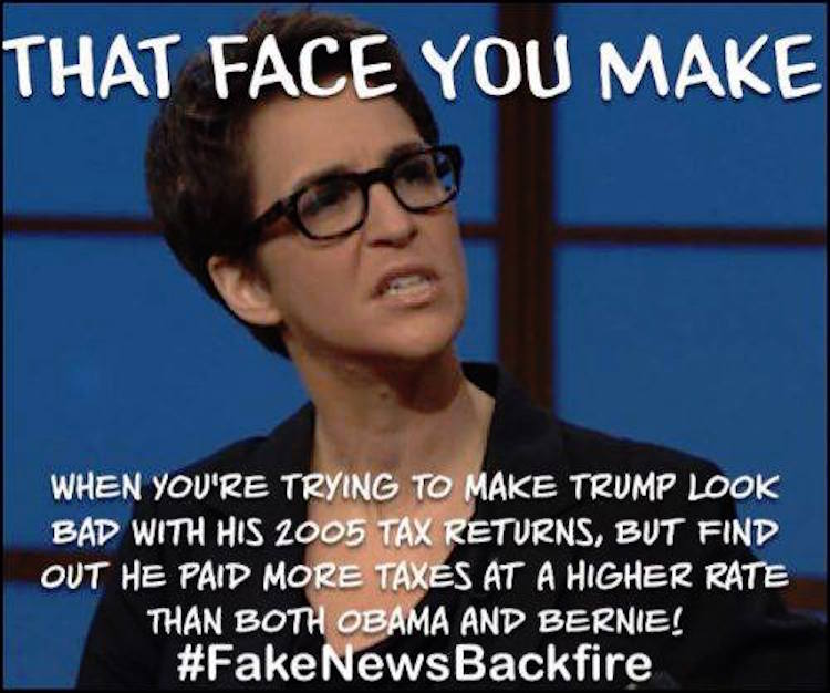 Trump Tax How Much Will I Save: HILARIOUS: What Maddow Must Be Feeling After Epic Trump